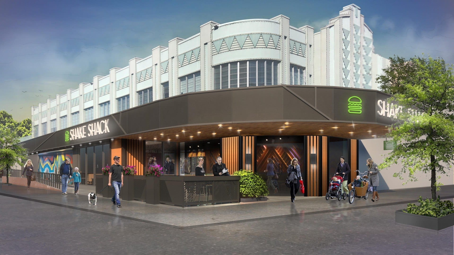 Shake Shack Easton rendering