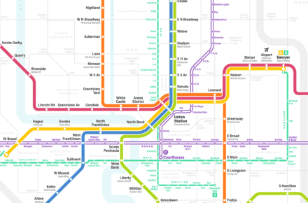 The Fantasy Columbus Transit Map Has Been Updated And It's Breathtaking