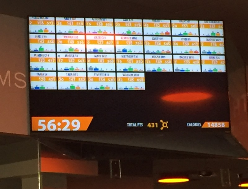 Orange Theory screens