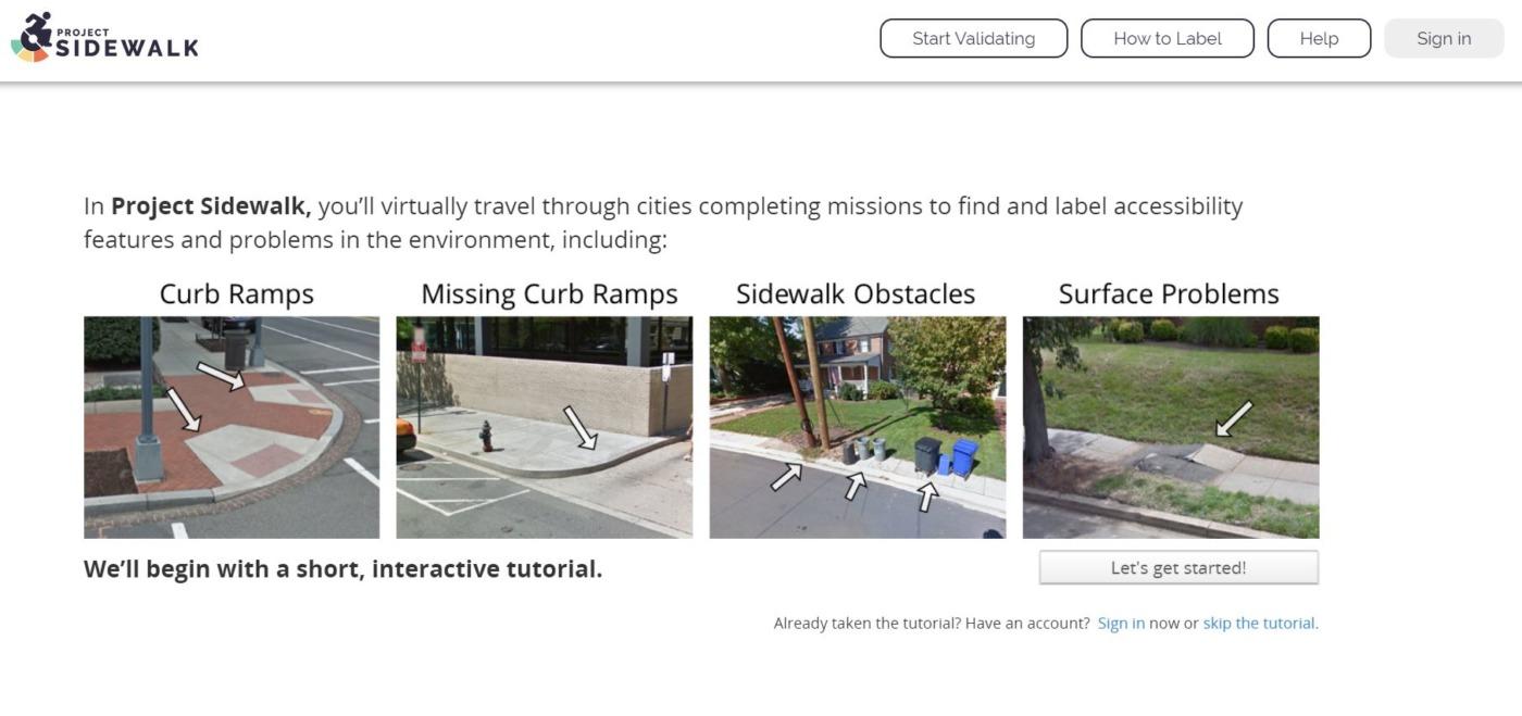 Open Sidewalks Columbus tutorial page